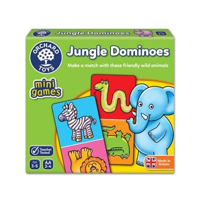 【英國 Orchard Toys】桌遊-叢林接龍 Jungle Dominoes OT-361