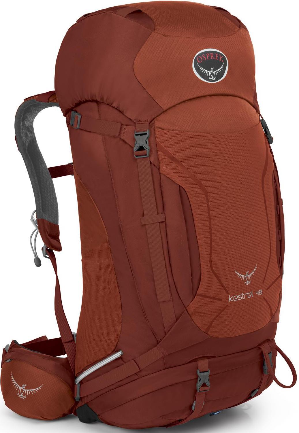 Osprey Kestrel 48 小鷹輕量登山背包/健行背包 附贈背包套 新款 48升 磚紅/台北山水