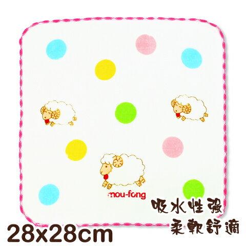 可愛動物純棉紗布方巾 綿羊印花 平價高品質的選擇 台灣製