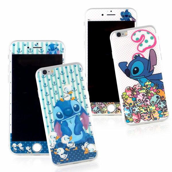 【Disney】iPhone6Plus6sPlus強化玻璃彩繪保護貼-史迪奇