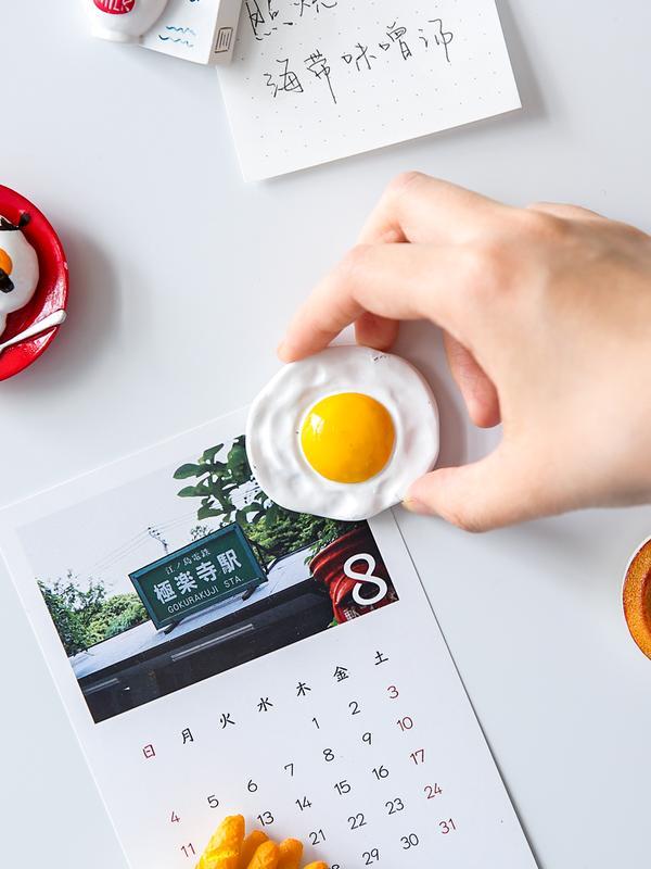 北歐ins冰箱貼3d立體創意可愛卡通黑板磁貼留言板磁力貼1入