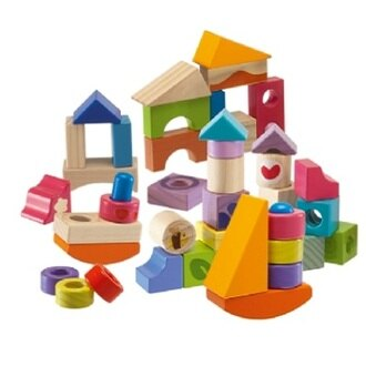 【安琪兒】義大利【Chicco】木製玩具3D益智積木組-40pcs(2y+)