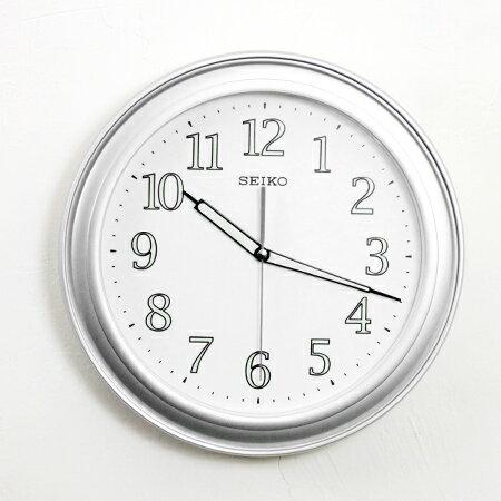 SEIKO精工掛鐘 極簡銀色外框圓形時鐘 夜光功能 居家用品 柒彩年代【NG1723】原廠公司貨