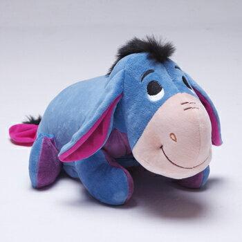 免運 現貨【禾宜精品】迪士尼 小驢屹耳 多功能玩偶毯 玩偶 毛毯 枕頭 Zoobies Disney Eeyore YZB114