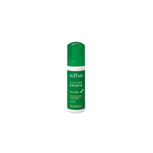 Moisturizing Foam Shave Aloe Mint 5 Fl Oz by Alba Botanica