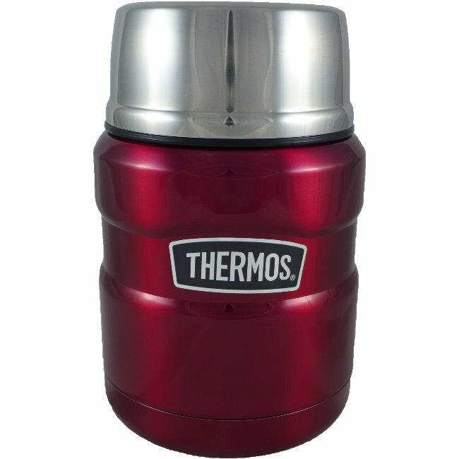 【THERMOS 膳魔師】不鏽鋼真空保溫罐/悶燒罐 PA-3000 (紅色)