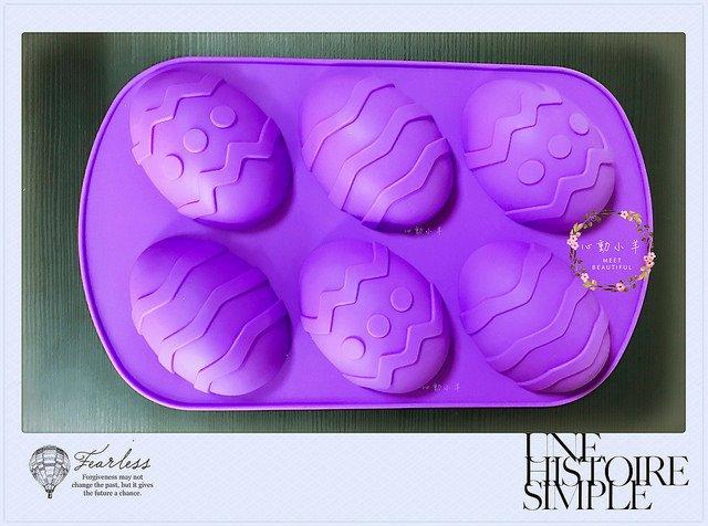 心動小羊^^ 復活節大彩蛋6連模 巧克力模具 蛋糕模 手工皂 矽膠模具 製冰盒 果凍盒 皂模