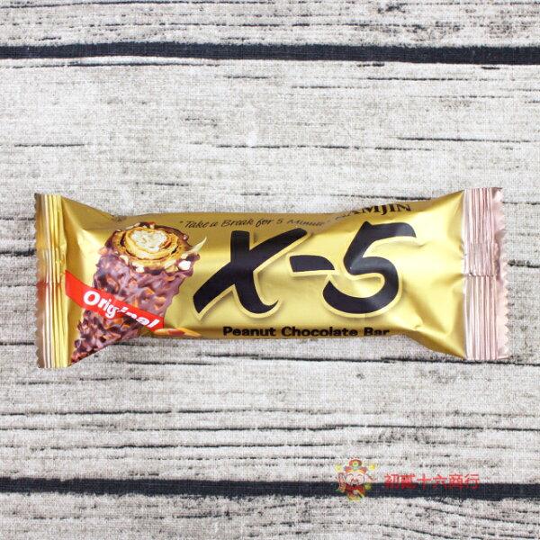 【0216零食會社】韓國零食韓國X-5_花生巧克力捲心酥36g