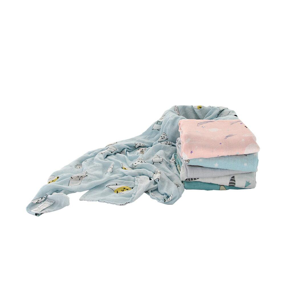 Muslin tree雙層紗布包巾 100%竹纖維蓋毯JoyBaby 618購物節
