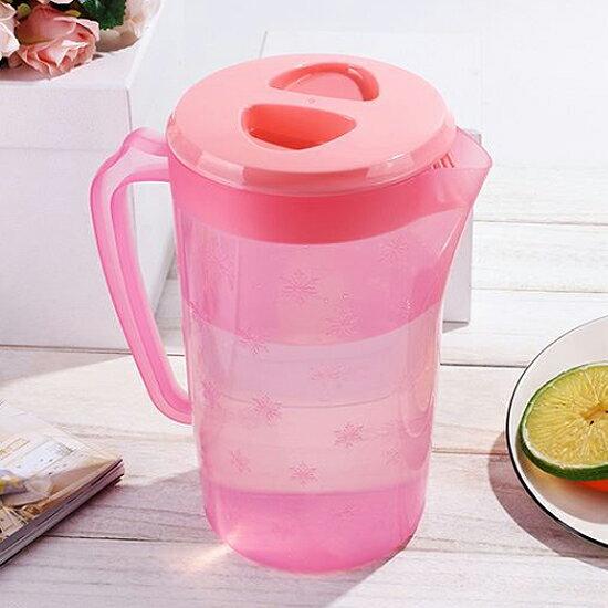 Mycolor:♚MYCOLOR♚雪花紋炫彩冷水壺杯子水杯果汁冷熱飲料涼水密封大容量家用茶壺【G10-2】