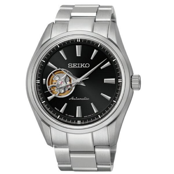 Seiko Presage 4R38-00S0D(SSA257J1)擺輪透視經典機械腕錶/黑面42mm