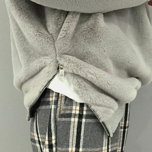 上衣 - 羅紋袖口側開拉鍊羊羔毛長袖T恤【29173】藍色巴黎《2色》現貨 + 預購 2