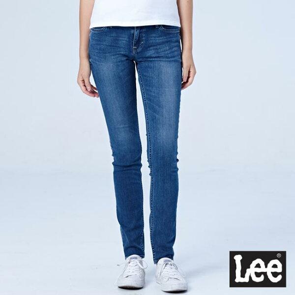 Lee418中腰緊身窄管牛仔褲-女款