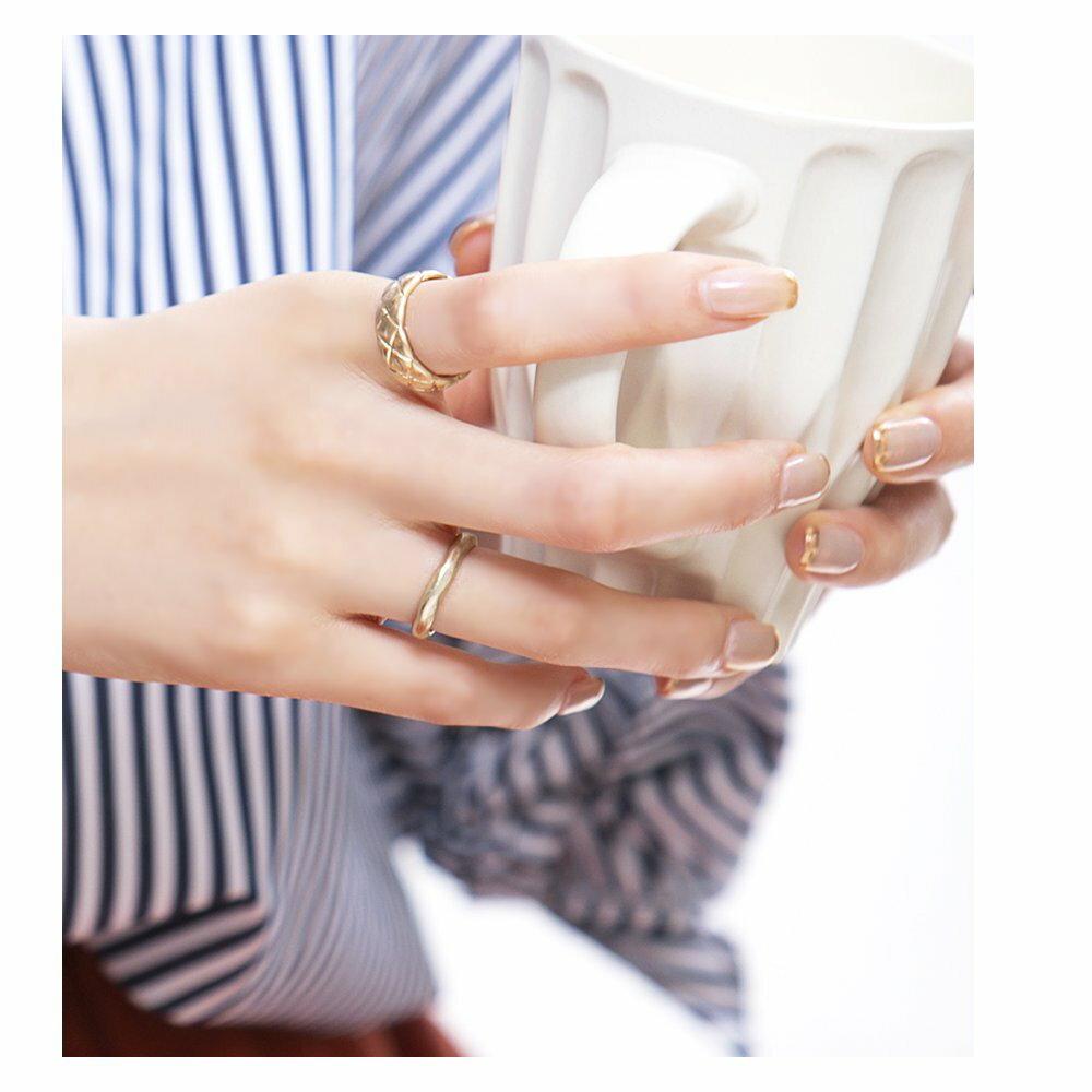 日本CREAM DOT  /  リング 指輪 金属アレルギー ニッケルフリー アクセサリー ボリューム 太め ごつめ 幅広 メンズライク 12号 メタル ゴールド シルバー シンプル 重ねづけ 上品 お呼ばれ 小物 ギフト 大人 レディース 女性  /  qc0434  /  日本必買 日本樂天直送(1190) 3