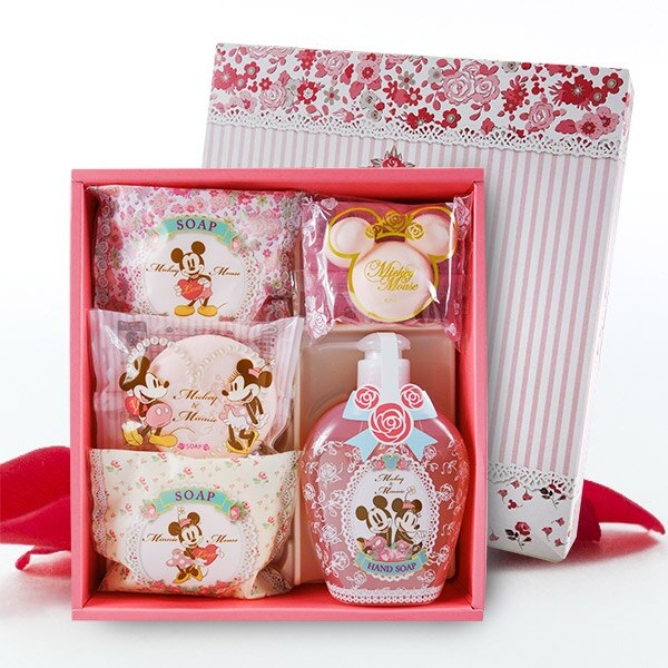 超療癒 日本製米奇&米妮玫瑰香皂禮盒組 中組/大組 【不附提袋喔!】