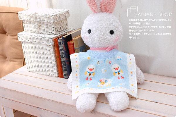 ☆愛戀小媽咪.嬰兒用品☆【A0058】台灣製.可愛毛巾布套頭式圍兜.特價品 .三入