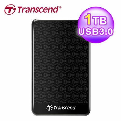 【Transcend 創見】SJ25A3K 1TB 2.5吋 外接硬碟【三井3C】 - 限時優惠好康折扣