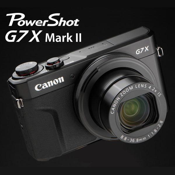[滿3千,10%點數回饋]★分期0利率★Canon PowerShot G7X MARK II  2 G7X MK2 G7X2  二代  新機上市   1吋 感光元件  類單眼數位相機  彩虹公司貨 送清潔組+專用保護貼★送專用復古皮革包 至12 / 31止,回函申請送原電 1