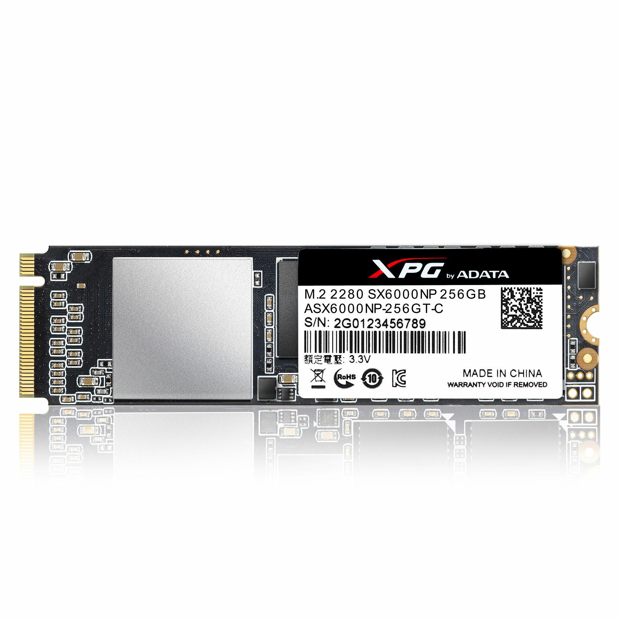 XPG SX6000 PCIe NMVe Gen3x2 M.2 2280 256GB SSD by ADATA with DIY XPG Heatsink 5