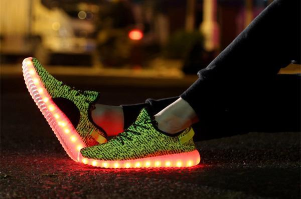 LED Light Lace Up Sportswear Sneaker Casual Shoes 2