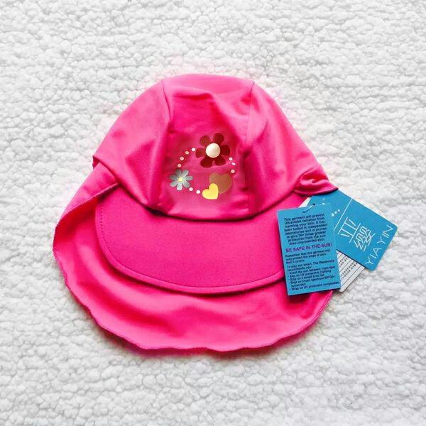 防曬抗紫外線遮陽泳帽 彈性很好  兒童 泳裝 泳衣  橘魔法 Baby magic 現貨 童 泳裝 女童【p0061185993358】