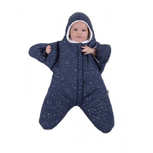 BabyBites 西班牙鯊魚咬一口 嬰兒包巾睡袋(輕量版)小海星-午夜藍★衛立兒生活館★ - 限時優惠好康折扣