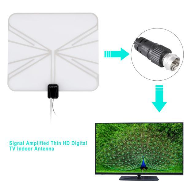 Satellite Signal Digital Indoor Television Antenna Falt Wave Box HD UHF/VHF/FM 5