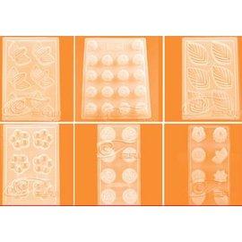 【巧克力模-PP吸塑-多造型-5個/組】巧克力模具 卡通套裝果凍布丁模具 PP模吸塑模 5個/組(多款可搭選)-8001001