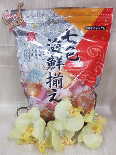 三河屋七色海鮮米果145g包