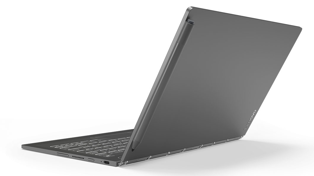 Lenovo Yoga Book C930 - Iron Grey, 7th Generation Intel® Core™ i5-7Y54  (1 20GHz, up to 3 20GHz with Turbo Boost, 4MB Cache), 256GB SSD, 4GB LPDDR3
