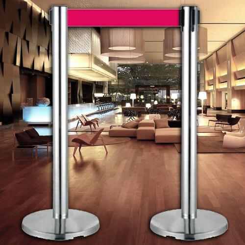 【企隆 圍欄 飯店用品】 開店 欄柱 紅龍柱 排隊 E86S 不銹鋼伸縮欄柱 室內型