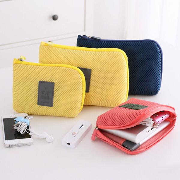 ♚MY COLOR♚小飛機收納網格袋(L) 數位收納包 旅行收納包 行動電源收納包 零錢包 手機包【B26】