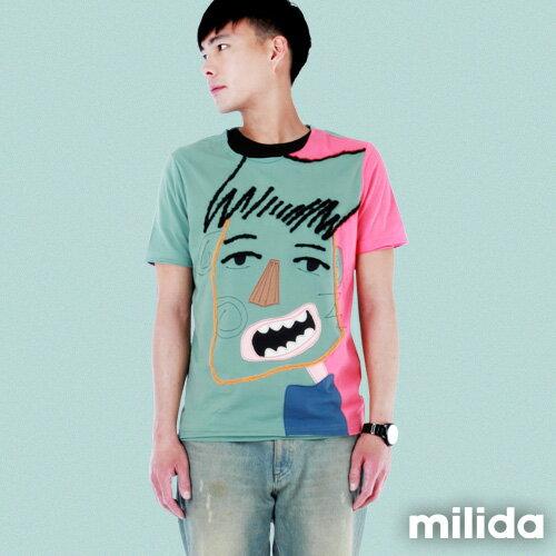 【Milida,全店七折免運】男生款-獨家設計情侶款T恤 4