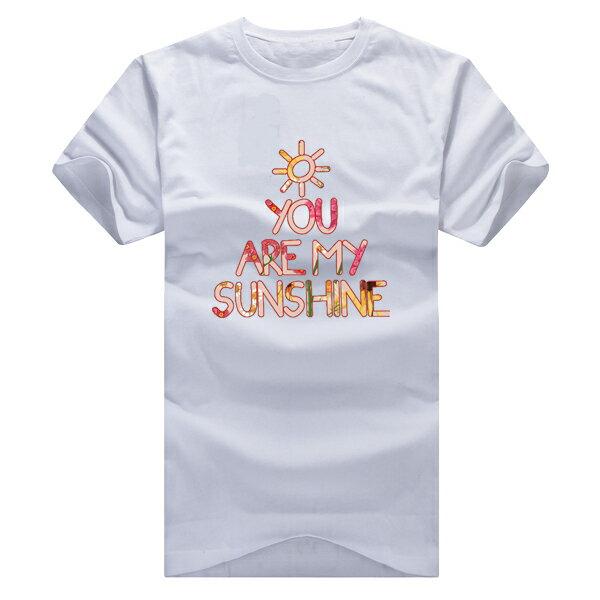 ◆快速出貨◆T恤.情侶裝.班服.MIT台灣製.獨家配對情侶裝.客製化.純棉短T.花朵sunshine【YC378】可單買.艾咪E舖 5