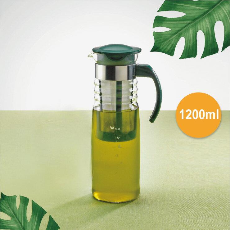 【HARIO】冷泡茶壼 (內附濾茶網) /1200ml / HCC-12DG