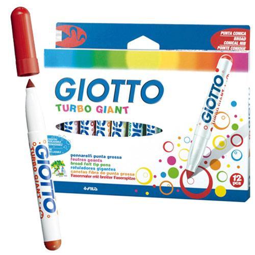 【義大利 GIOTTO】超好洗粗細雙效彩色筆(12色) 424800