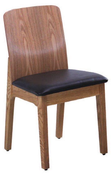 ~尚品傢俱~JF~984~4 法爾栓木皮面餐椅
