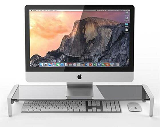 熒幕架 臺式電腦增高架辦公桌面鍵盤收納置物架顯示器抬高護頸支架托底座