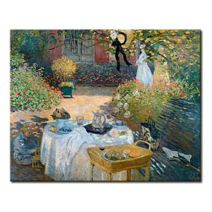 【P2 拼圖】名畫系列-盒裝拼圖 莫內 花園午餐1000片 01-023