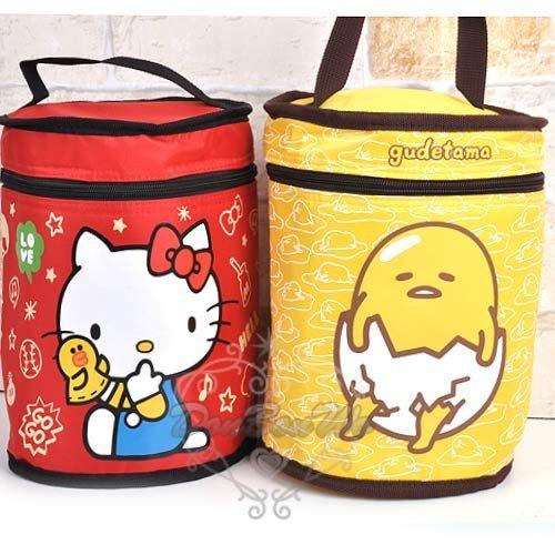 kitty &LINE蛋黃哥聯名手提保鮮袋便當袋圓筒凱熊410858蛋410476熱門