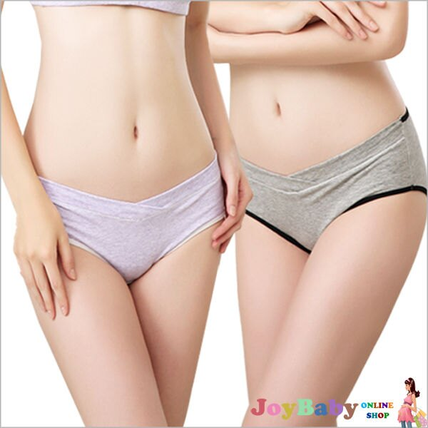 孕婦內褲 U型褲 托腹褲 低腰褲 哺乳內衣銀纖維抗菌大碼彈性~JoyBaby~