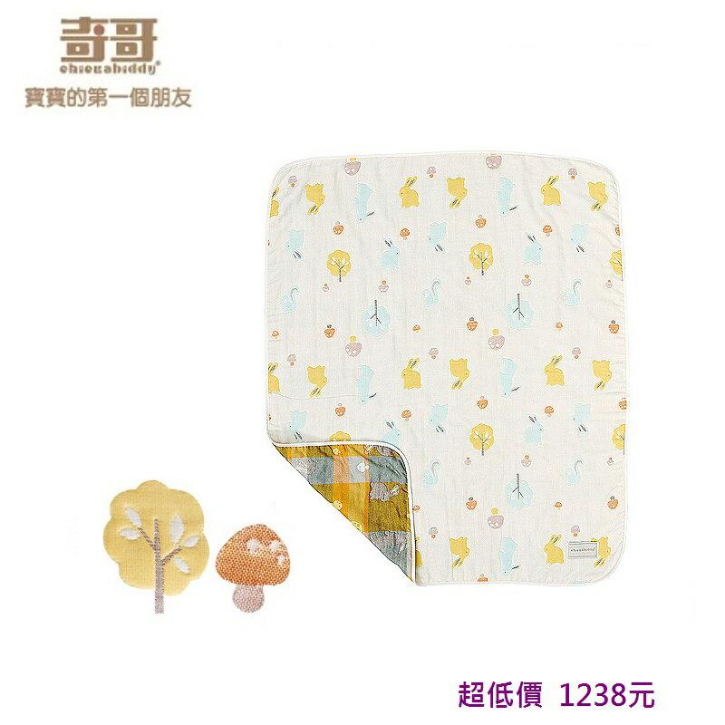 *美馨兒*奇哥-快樂森林六層紗布被(中)/嬰兒被(90x110cm) 1238元