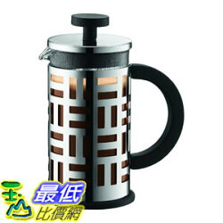 [107美國直購] 咖啡機 Bodum  12-Ounce Eileen French Press Coffee Maker, 12-Ounce, Chrome
