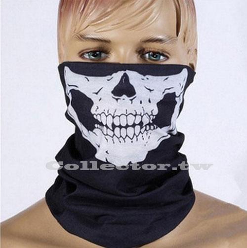 【F16101405】萬聖節造型骷髏頭面罩 無縫多功能魔術頭巾 百變頭巾 保暖圍脖