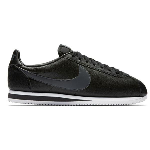 【NIKE】CLASSIC CORTEZ LEATHER 休閒鞋 阿甘鞋 黑色 (男) -749571011 1