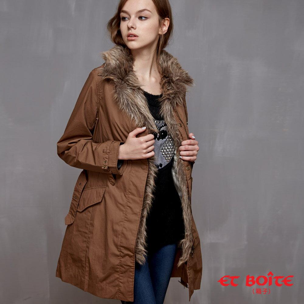 兩穿式 鋪棉雙層風衣外套(2色)