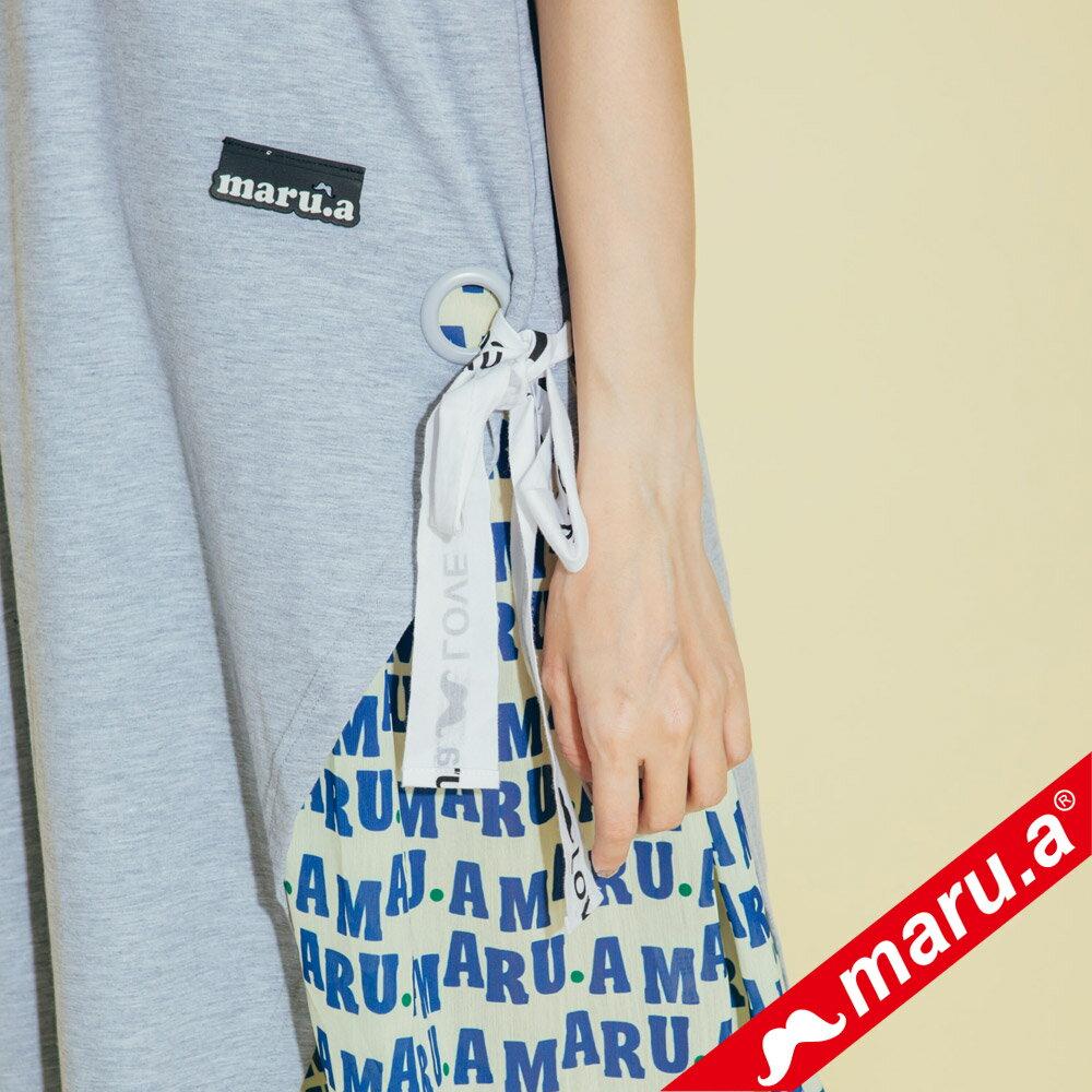 【maru.a】兩件式雪紡滿版文字內搭洋裝(2色)8327117 4