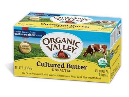organic valley 有機發酵無鹽奶油454g 含低溫配送運費 勿用超商以免無法寄出 此商品不列入滿千免運優惠