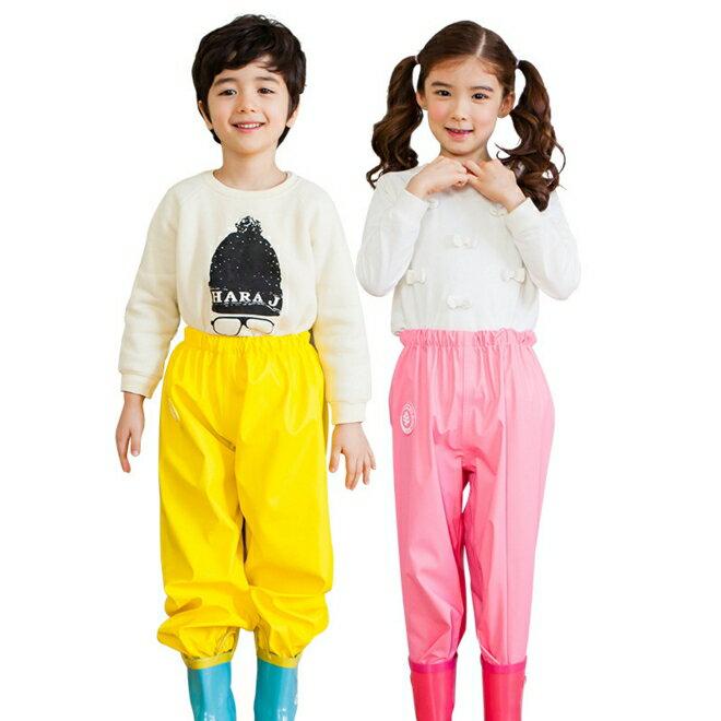 WallFree窩自在★糖果色純色便利騎行防水褲雨衣褲兒童雨褲