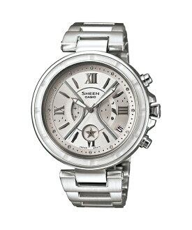 CASIO SHEEN SHE-5515D-7A星月元素時尚腕錶/白色40mm